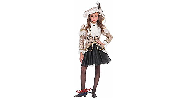 Italian Made Girls Deluxe Renaissance Pirate Fancy Dress Costume Outfit 0-12 yrs
