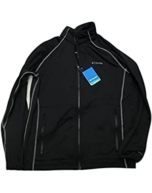 Columbia Sportswear Wooden Trestle Black Full Zip Fleece Jacket (Large)