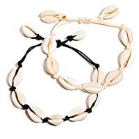 17KM Natural Cowrie Shell Bracelet for Women Boho Jewelry Rope Braided Wave Bracelet for Girls Fashion Gifts 2019 Friendship
