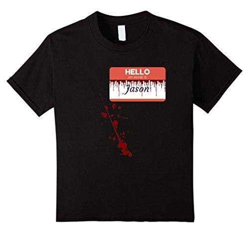 Halloween Jason Costumes (Kids Hello My Name is Jason T-Shirt 12 Black)