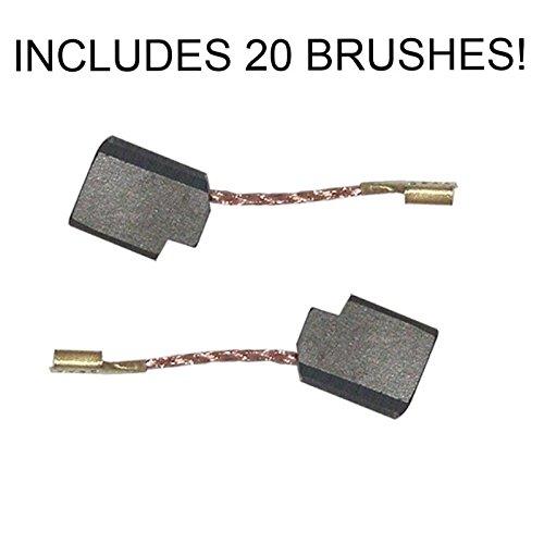 28402 Grinder Replacement Carbon Brush for Dewalt D28402, D28110, D28112, D28401N Set of 20 # 650916-01-20pk