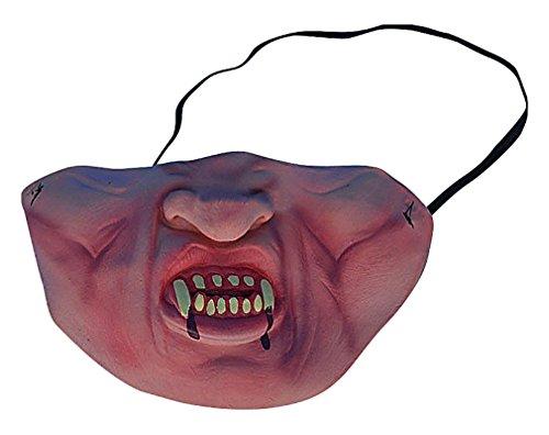 Maze Horrible Funny Grotesque Faces Half Face Silicone Scary Halloween Masks, Vampire One Size ()