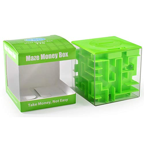 Trekbest Money Maze Puzzle Box - A Fun Unique Way to Give Gifts for Kids and Adults (Green)