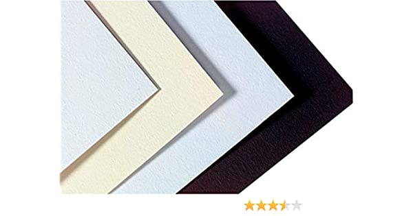 20 x 32 Inches Pack of 10 Crescent Colored Mat Board Smooth Black 921A