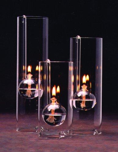 Amazon.com: Chimney Lamps Handblown Glass Oil Lamp Set of Three ...