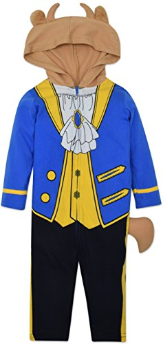 Prince Outfit Toddler (Disney The Beast Prince Baby Boys' Costume Coverall with Hood, Blue, 18-24)