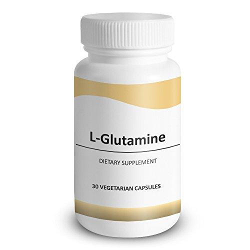L-Glutamine, formule de santé polyvalent - lutter contre la colite ulcéreuse, ulcères d'estomac & atrophie musculaire - la promotion de la santé intestinale, la fonction immunitaire, cicatrisation, 30 Capsules