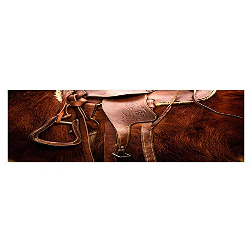- Leighhome Decorative Aquarium Background A Saddle on a Horse's Back Decal Sticker Home Decor Art L35.4 x H19.6