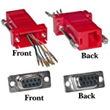 Modular Adapter, DB9 Female to RJ45, Red ( 1 PACK ) BY NETCNA