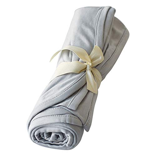 - Kyte BABY Organic Bamboo Rayon Swaddling Blankets - Buttery Soft Stretchy Breathable Swaddles for Baby (Storm)