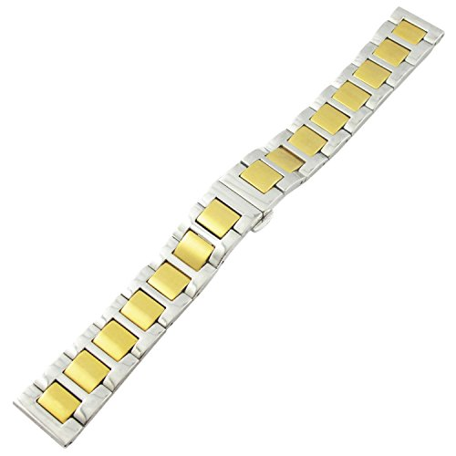 YouYouPifa Unisex's Luxus Alloy Strap Watch Strap (Gold Silver Strap )