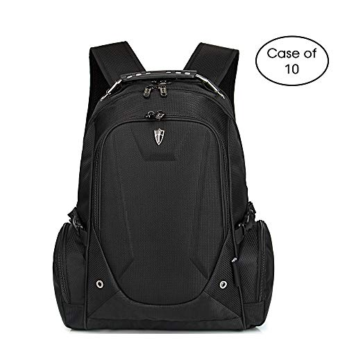 Case of 10, Travel Laptop Backpack,Business Durable Laptops Backpack Water Resistant College School Computer Bag Fits 15.6 Inch Laptop and Notebook for Women & Men