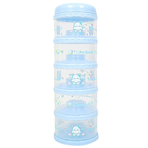 Blue Made In Korea Dispenser Yomilock 5-Layer Antibiotic Milk Powder Container