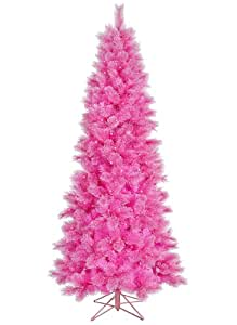 7.5' Pre-Lit Pink Cashmere Artificial Christmas Tree - Clear Lights
