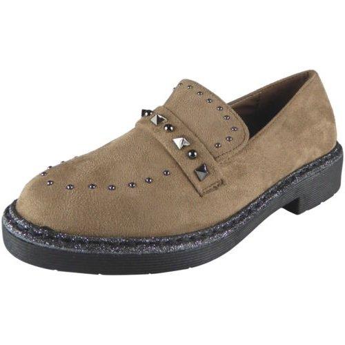 Damen Schlüpfen Niedrig Hacke Verziert Deck Schuhe Bequem Müßiggänger Wohnungen Größe 36-41 Khaki