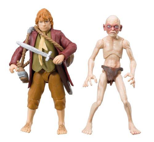 "The Bridge Direct Hobbit 3.75"" Adventure: Bilbo Baggin and Gollum - Wave 1, Pack of 2"