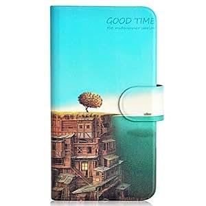 GX 20150511 el mar y la ciudad de patrón pu funda de teléfono móvil con ranura para tarjeta para la galaxia a3