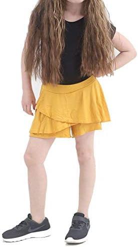 Girls Ladies Neon RARA Mini Skirt  Dance 80s Club Fancy Women Frill Short 8-4