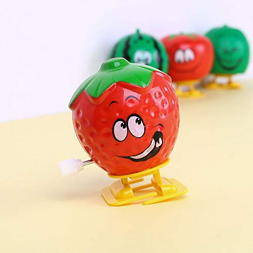 LtrottedJ Clockwork Surprise Gift 4 Pack Funny Kawai Fruits Bounce Toy Educational -