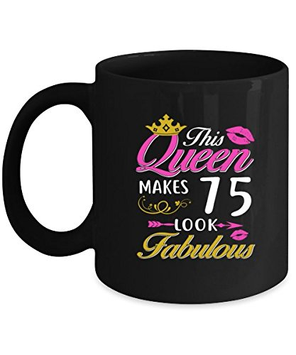 Image Unavailable Not Available For Color 75th Birthday Coffee Mug Women Cool Gift