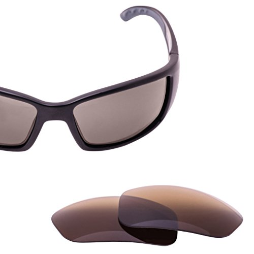 LenzFlip Lens Replacement for Costa Del Mar BLACKFIN Sunglass- Bronze - Low Sunglasses Light Costa