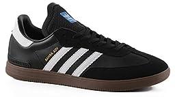 adidas Skateboarding Men\'s Samba ADV Black/White/Gum Athletic Shoe