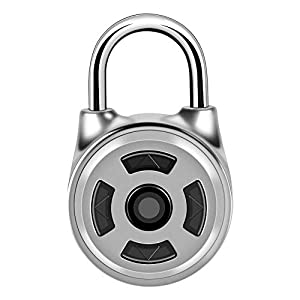 41u16w8UAUL. SS300 ASHATA Lucchetto Bluetooth, Mini Smart Padlock Bluetooth Keyless Sblocca Lucchetto Antifurto Impermeabile Supporto Esterno iOS e Android per Zaino, Valigia, Bici
