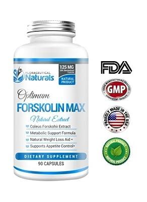Forskolin 125mg - Pure Natural Forskolin Extract Supplement. 90 Capsules - Fat Burner, Apetite Suppresant, Vegan, Gluten Free Pills.
