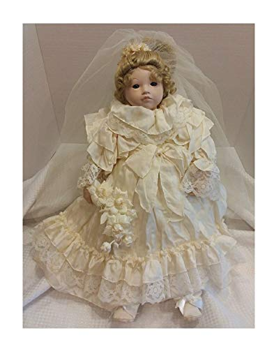 (Vintage The Bride Doll in Ivory by Dolls by Pauline 18