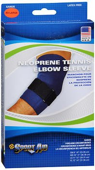 Sport Aid Neoprene Tennis Elbow Sleeve XL - 1ea, Pack of 6 by SportAid