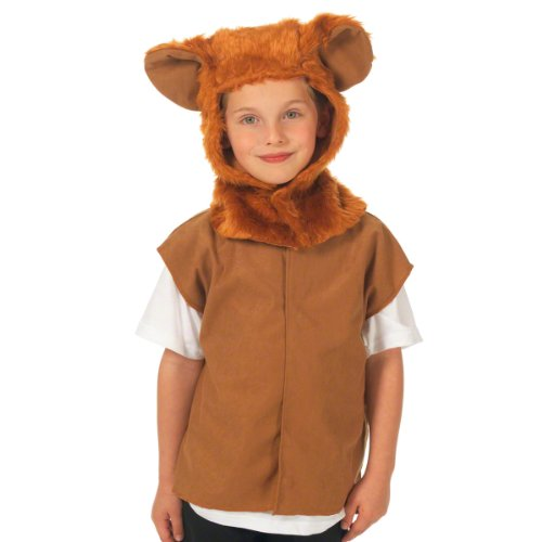 Cute Cowardly Lion Costumes (Lion Costume for Kids. One Size. 3-9 Years.)