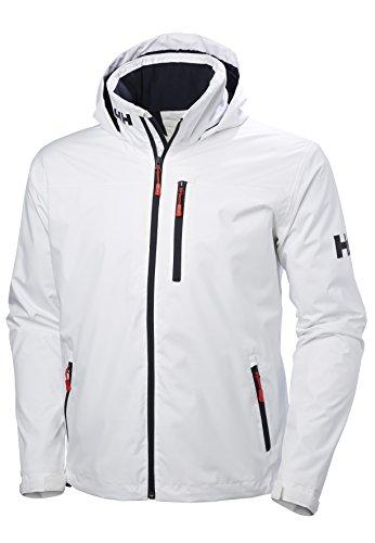 Helly Hansen Crew Hooded Midlayer Jacket, White, X-Large