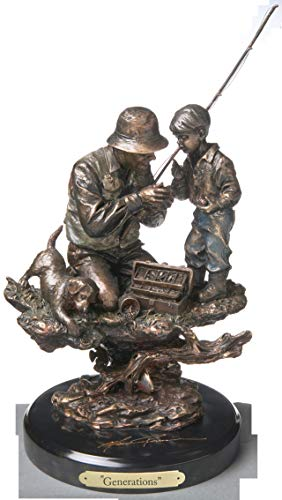 (DEMDACO Generations Bronze Color 15 x 9.5 Hand-cast Resin Decorative Sculpture)