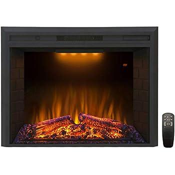 Amazon.com: FLAME&SHADE - Estufa eléctrica empotrada o ...
