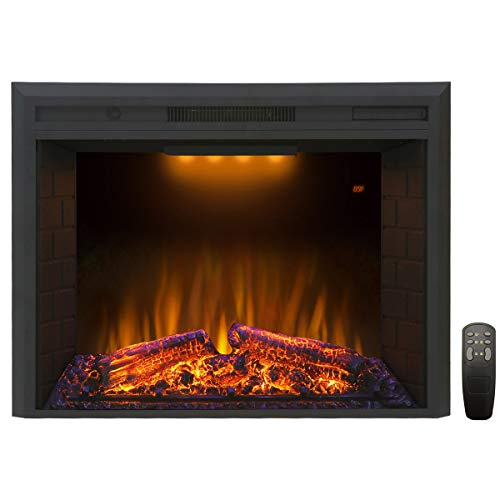 Valuxhome Houselux 30 Inches Fireplace Insert Electric Fireplace Heater with Log Speaker, 1500W,...