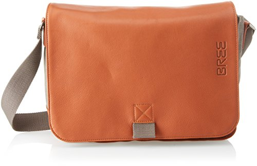 BREE Punch Casual 62, Grey/cognac, Shoul. Bag, Unisex Adults' Shoulder Grau (Grey), 8x24x34 cm (B x H T) (Bree Punch)