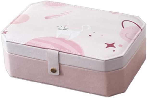 Ningz0l Caja Joyero, Cuero Impermeable, diseño a presión para Anillos Aretes Pendientes Pulseras Y Collares Viaje Cajas para Joyas para Regalo Los 30 * 24 * 10cm: Amazon.es: Hogar