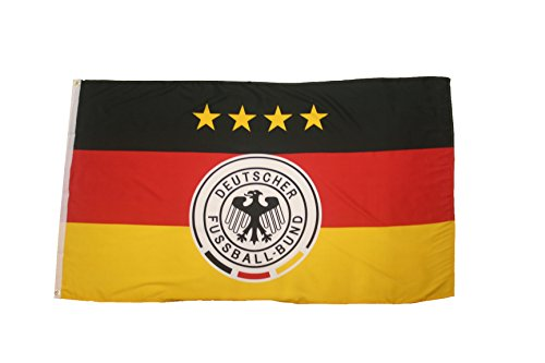 Germany 4 Stars, Deutscher Fussball-Bund Logo FIFA Soccer World Cup 3' x 5' Feet Picture Flag Banner