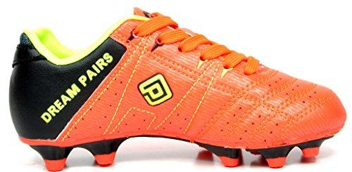 DREAM PAIRS Herren 160471-M Stollen Fußball Fußballschuhe Orange / Schwarz / Zitronengrün