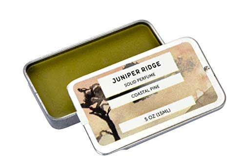 Juniper Cologne - Solid Perfume | Wild-Harvested Essential Oil Blend | Unisex Fragrance | Travel Friendly | Coastal Pine | 0.5 Oz Tin