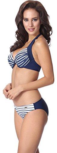 AQ134 Navy aQuarilla Coordinato Bikini Blu Donna Bianco BxCtCwrq