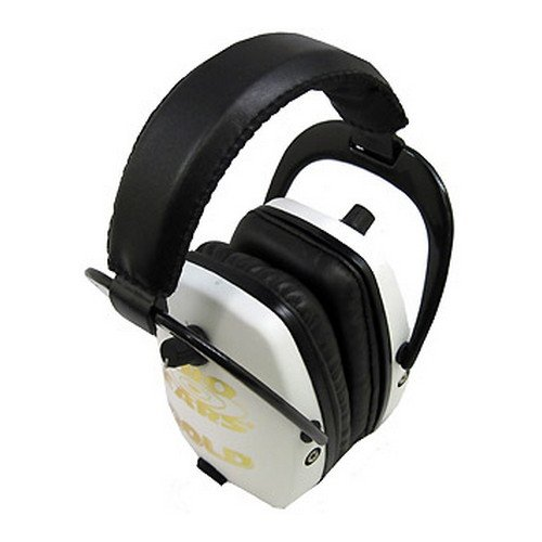 Pro Ears - Pro Slim Gold - Electronic Hearing Protection and Amplification -  NRR 28 - Ear Muffs - White