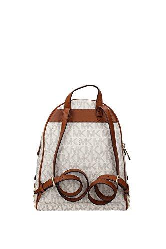 10a7a11b5127 MICHAEL Michael Kors Rhea Zip Small Studded Backpack Signature Vanilla