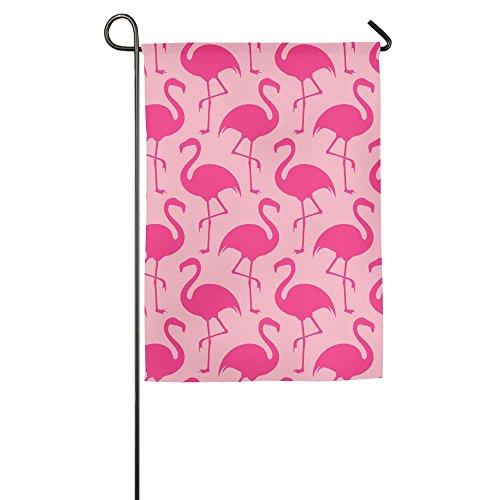 GUOTLIY Fashion Custom Garden Flag Red Flamingos Garden Flag