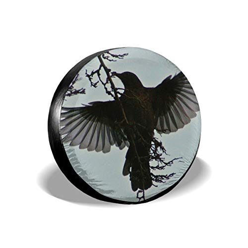 Uiowsbe Blackbird in Flight1 Dust-Proof Wheel Tire Covers Universal Spare Tire Cover Fits 14,15,16,17 in