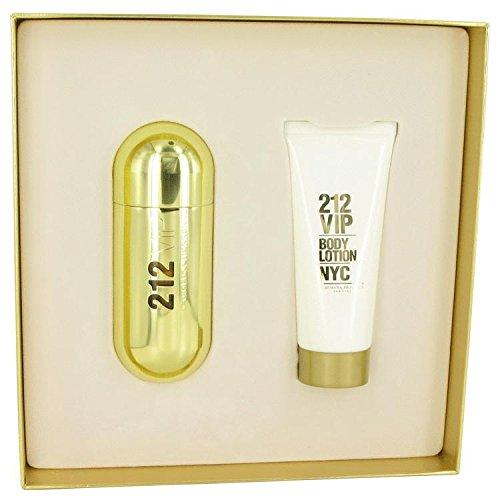 212 Vip by Carolina Herrera For Women Gift set2.7 oz Eau De Parfum Spray + 3.4 oz Body Lotion (Gift Set 212)