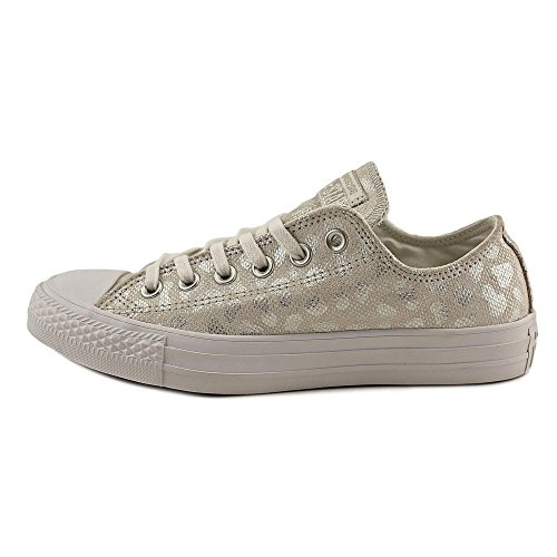 Ox Stars Animal Chuck Brea Converse Textile Low Top Trainers Silver Taylor all White Womens Glam qTnII8UY