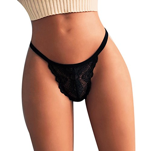 DORIC Sexy Girl High Waist G-String Brief Pantie Thong Lingerie Knicker Lace Underwear Black