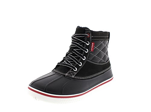 crocs AllCast Duck 12586 Herren Chukka Boots Schwarz (Black/White 066)