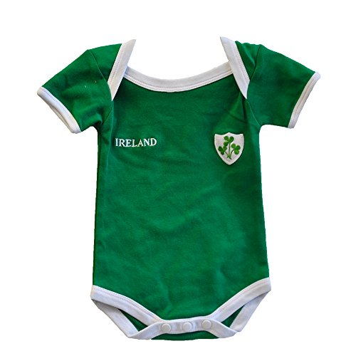 Rugby Badge (Lansdowne Green Ireland Rugby Vest Designed With A Small Ireland Print and Shamrock Badge)